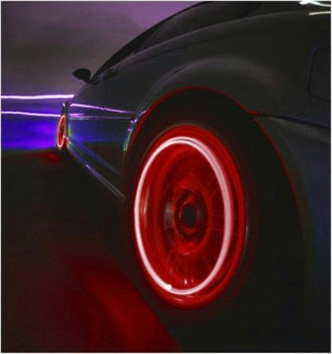 ModFreakz™ 4 Piece Tire Valve Multi Color RGB Red Green Blue LED Lights