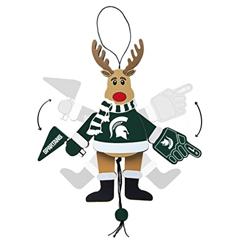 NCAA Michigan State Spartans Wooden Cheer Ornament
