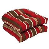 Wicker Chair Cushion (Set of 2) Color: Monserrat