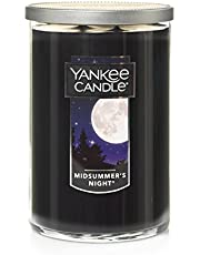 YANKEE CANDLE 1123214Z Large 2-Wick Tumbler Candle, MidSummer's Night Black