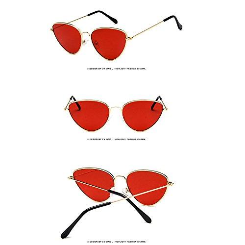 Mujer de Casuales Viento de de a Gafas Prueba Rojo Solar Gafas Protección wlgreatsp Sol 7qII5