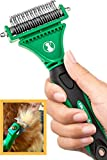 k9konnection DEMATTING Tool for Dogs and Cats | 2 Sided Rake with Dual Shedding Blades | Cat Hair Remover Comb for Knots, Tangles & Mats | Dog Brush for Long Haired | Pet Grooming Kit