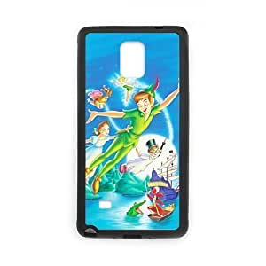 Custom Disney Cartoon Peter Pan DIY Design Protective Rubber Cover Case for SamSung Galaxy Note4 (Laser Technology)
