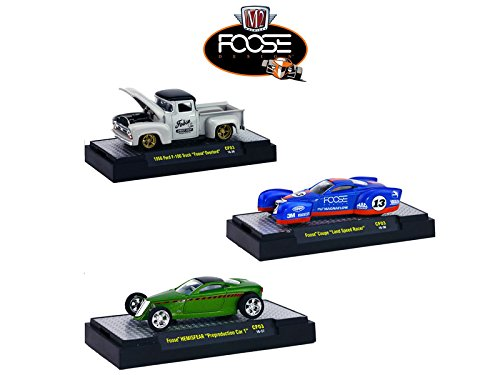 Chip Foose Release 3, 3 Cars Set WITH CASES 1/64 Model Cars by M2 Machines