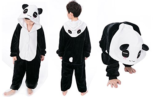 Panda Costumes For Toddler (Kids Child Sleepsuit Costume Cosplay Homewear Kigurumi Onesie Pajamas Panda (Size 120))