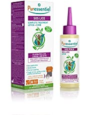 PURESSENTIEL - SOS Lice Complete Treatment Lotion + Comb - Eliminate lice, larvae and nits when used with combing - Precise targeting - Tested under dermatological control - 100% from natural sources - 100ml