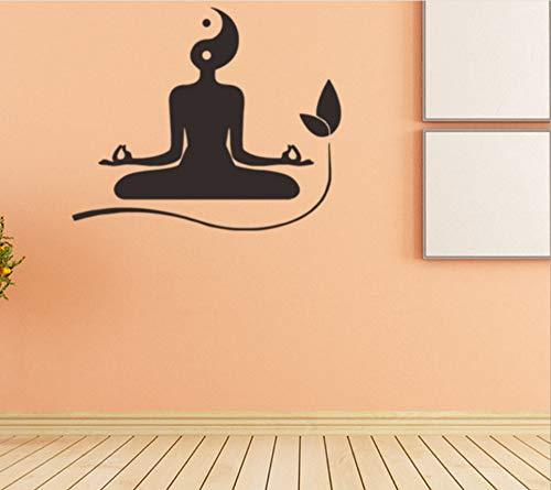 Etiqueta de la pared Yoga Taiji Figura Creativa Etiqueta de ...