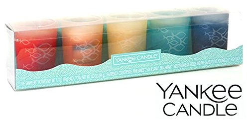 Yankee Candle Seaside Silhouette Votive Candle Holder Gift Set Gift Set ()