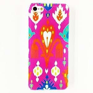 GONGXI-Flores Patrón de plástico duro caso para iPhone 5/5S , Multicolor