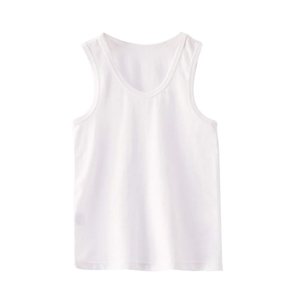 Yooan Boys Plain Sleeveless Vest Top Kids Summer Tank Tops
