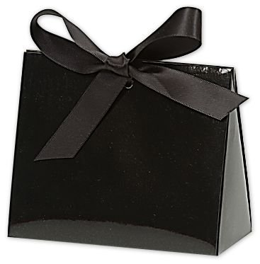 Black Gloss Purse Style Gift Card Holders (100 Holders) - BOWS-423-GBK-PURSE Miller Supply Inc