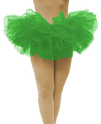 Run Green - Dancina Tutu Adult Teenagers Retro Skirt for Fun Dash Color Runs Short 10
