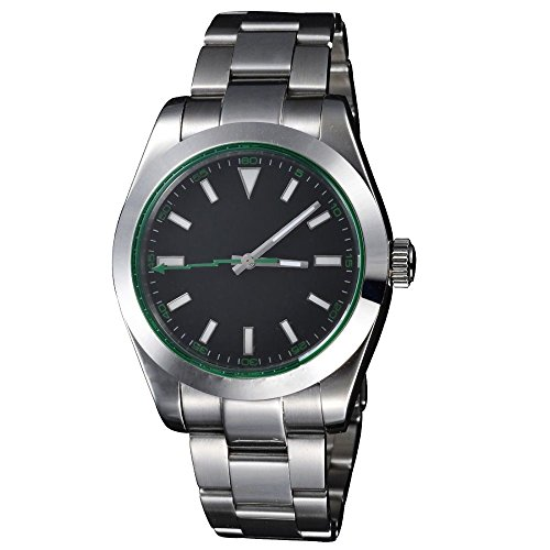 Whatswatch 40mm Sapphire Glass Black Dial Milgauss Style Automatic Men's Watch PA-0047 ()