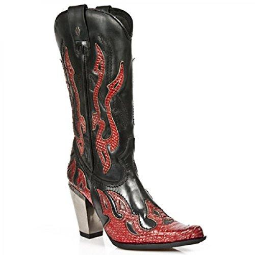 New Rock Laarzen M.7982-c4 Westerse Cowboy Damen Stiefel Schwarz