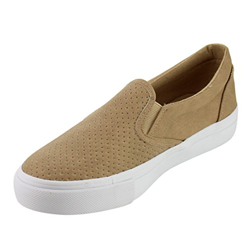 Soda On Womens White Shoes Camel Pu Tracer Sole Shoes Slip vIwarvq