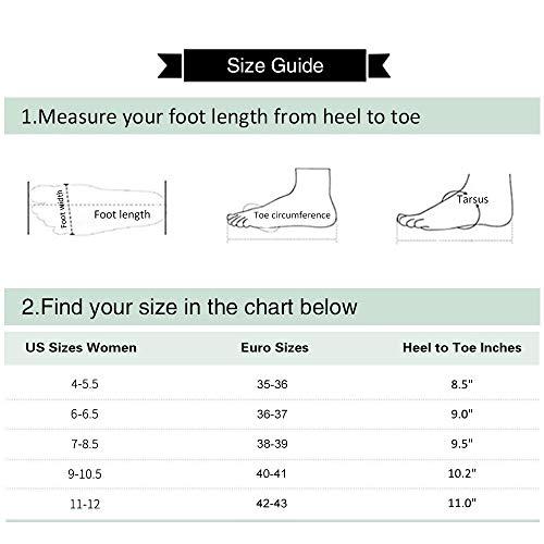 GaraTia Warm Indoor Slippers for Women Fleece Plush Bedroom Winter Boots Grey High Top 7-8.5 M US