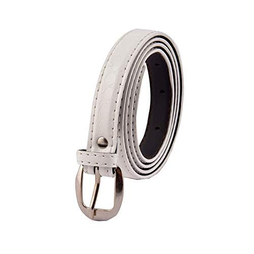 Uniq World Women's Ladies's Girl's Belt For Jeans Women's Belt For Casual Formal Dresses White Color Belt Free Size (Fit On Upto 34 Inch Waist)