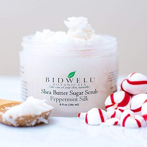 Peppermint Silk Sugar Scrub with Shea Butter, Coconut and Essential Oils