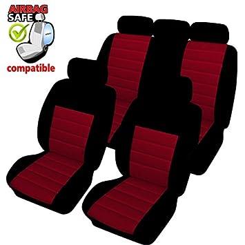 Opel Corsa Universal Rot Sitzbezüge Sitzbezug Auto Schonbezüge Schonbezug
