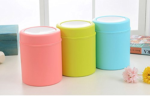 Kitchen Waste Basket Holder: Animal Pet Litter Waste Trash Recycle Bin Round Office