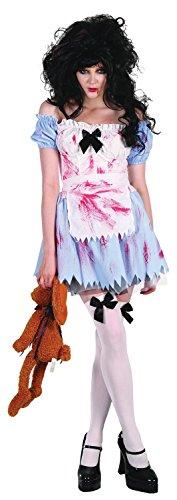 Ladies Sexy Zombie Dead Alice in Wonderland Fairy Tale Halloween Fancy Dress Costume Outfit UK 10-12-14 (One Size (UK 10-14)) ()