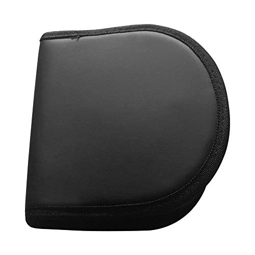 Nylon Zippered CD/DVD Wallet/Storage Case, Portable 12 CD/DVD Disc Storage Case Bag, CD/ DVD Wallet for Car, Home, Office and Travel, Nylon CD/DVD Wallet - Holds 12 Discs.