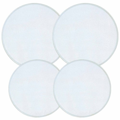 c Stove Burner Covers, Set of 4, White (Round Electric Burner)
