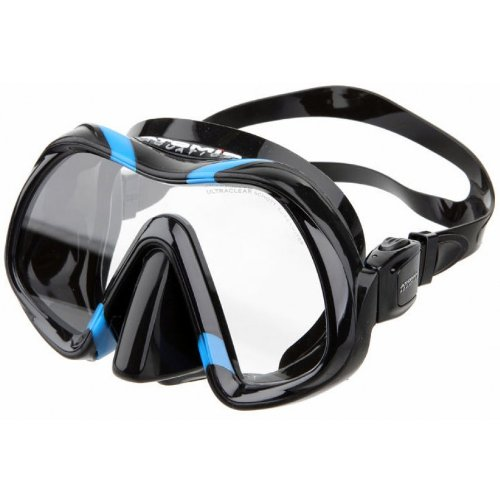 Atomic Aquatics Venom Mask, Black Skirt - Black/Blue