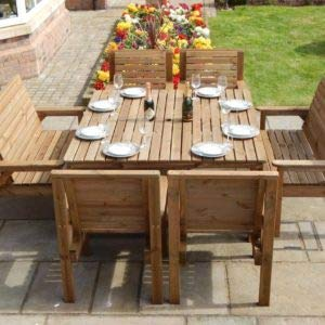 wooden garden dining furnitore
