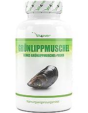 Groene lipschelp - 365 capsules met elk 600 mg - Premium: met glycosaminoglykane - hooggedoseerd groene lippmosselextract - 100% groene lipmosselpoeder uit Nieuw-Zeeland zonder toevoegingen - Laboratoriumgetest