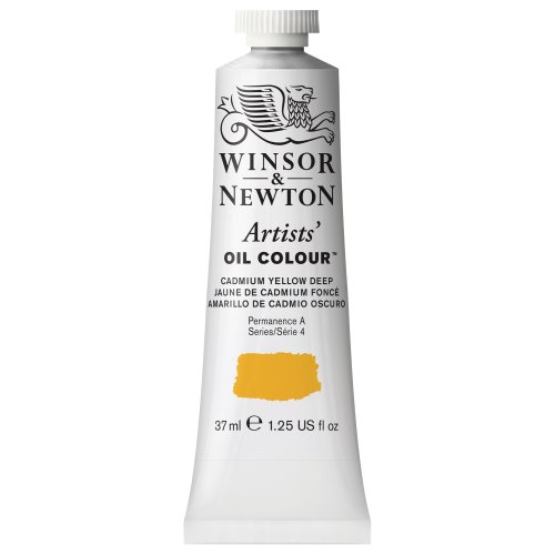 Winsor & Newton Artists' Oil Color Paint, 37-ml Tube, Cadmium Yellow Deep