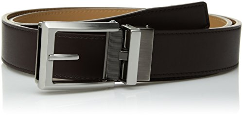 Comfort Click Men's Adjustable Perfect Fit Smth Leather Belt - As Seen On Tv, espresso/natural/brushed nickel/gunmetal, ONE SIZE (Belt Leather Simulated)