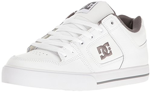 Action Leather Footwear (DC Men's Pure Action Sports Shoe, White/Battleship/White, 10.5 M US)