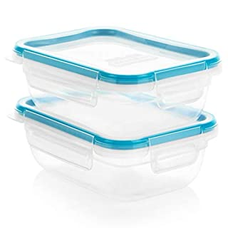Snapware Total Solution Plastic Food Storage Set (4-Piece, BPA Free, Meal Prep, Leak-Proof, Microwave, Freezer and Dishwasher Safe)
