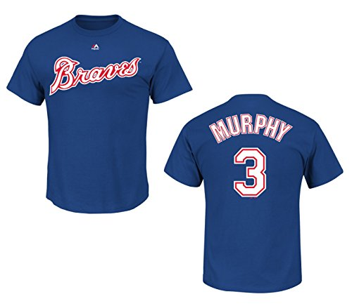 Majestic Atlanta Braves Dale Murphy Royal Blue Name and Number T-Shirt (M)