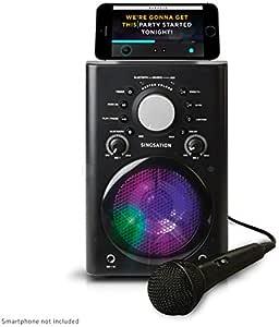 Singsation Karaoke Machine - Full Karaoke System with Wireless Bluetooth Speaker and Microphone. Works with all Karaoke Apps via Smartphone or Tablet