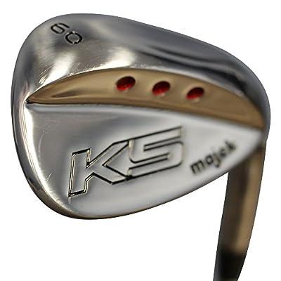 Majek Golf Senior Men's Lob Wedge (LW) 60° Right Handed Senior Flex Steel Shaft with Premium Jumbo Tacki-Mac Arthritic Men's Golf Grip