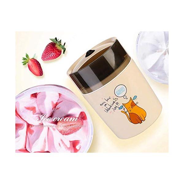 Macchina per Il Gelato elettrica Fai-da-Te congelata Yogurt e amp Sorbetto Macchina Mini Macchina Automatica per Gelati… 1 spesavip
