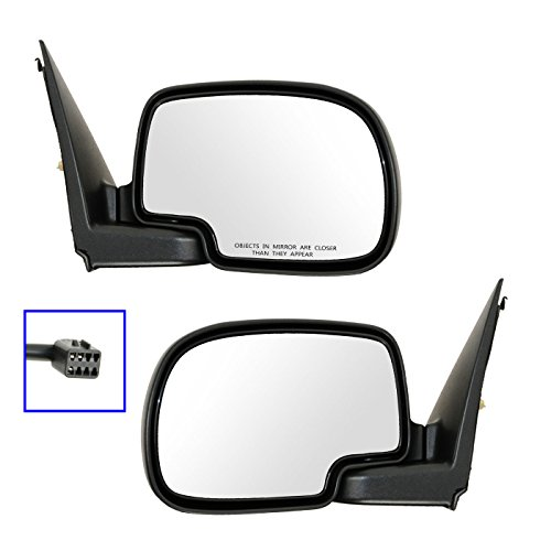 (Chrome Power Side View Mirrors Left & Right Pair Set for 99-02 Chevy GMC Truck)