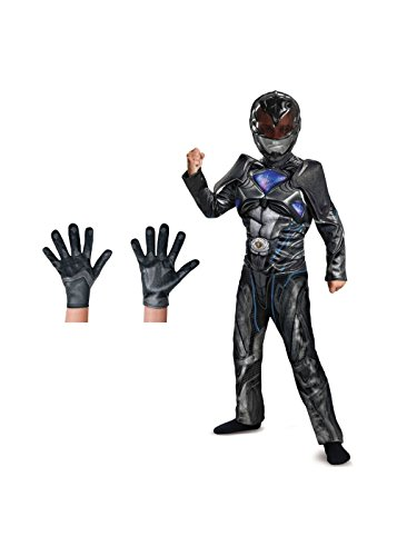 Big Boys' Black Power Ranger Movie Costume Set (Power Ranger Black Costume)