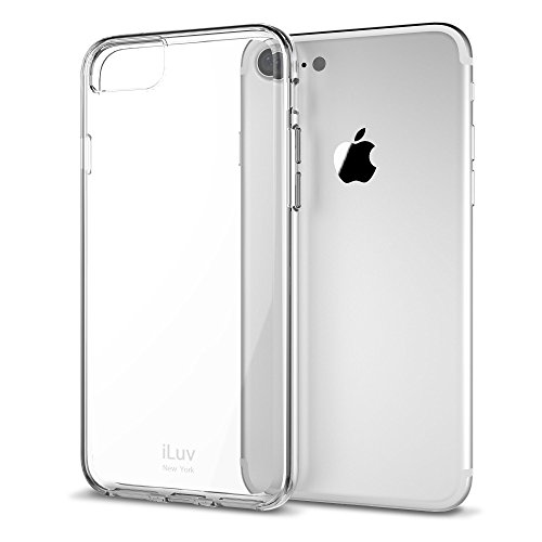 iLuv iPhone 8/ iPhone 7 Durable Dual Material Protective Case with Hard Plastic Clear Back, Soft TPU Frame, Ultra-thin Lightweight Design, Raised Lip on Front, and Access to All - Screen Clear Iluv