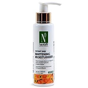 NutriGlow Advanced Organics Instant Skin Whitening Moisturizer SPF 20 / Pure Lavender Oil/Instant Whitening/Deep…