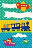 1 4 Sheet ~ Little Planes Boats   Trains ~ Edible Image Cake Cupcake Topper by Quantumchaos Media