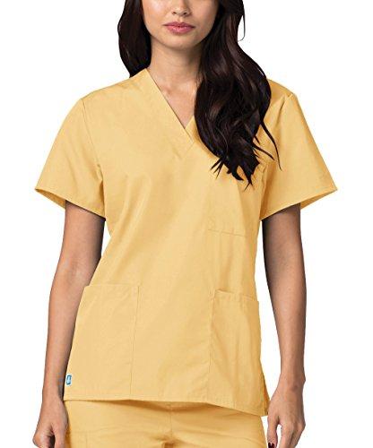 Giallo Da Camice Superiore Ospedale honey Adar Mediche Unisex Uniformi Parte Infermiera Lavoro RqxZ8vwE