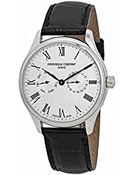 Frederique Constant Mens Classic Silver Dial Leather strap Watch FC259WR5B6