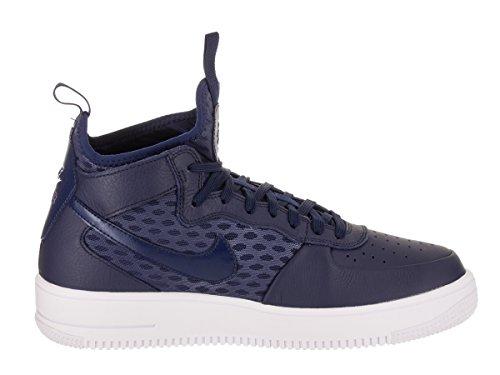 Nike Mens Air Force 1 Ultraforce Mid Scarpe Da Basket Blu Binario / Bianco Blu Binario