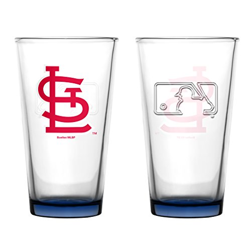 (St Louis Cardinals Embossed Pint Glass 16 oz. (2 pack))