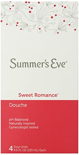 Summer's Eve Douche - PH-Balanced - Gynecologist Tested - Sweet Romance Scent - 4 Count, 4.5 Fluid Ounces Each (Pack of 6) (Deodorant Summer Scent)