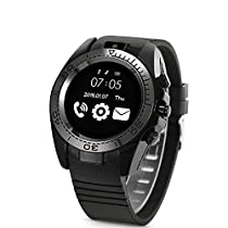Fitness Trackers, Hangang Sports Watch SW007 Wrist Watches for Women Man Bluetooth Smart Wrist Watch MonitorTouch Screen SmartWatch with Sim Card Slot Men Call Message Reminder Wearable Devices Hands Free Telephone for Android Samsung Smartphones Sport Smart Wristband with Camera Function(CS12064)