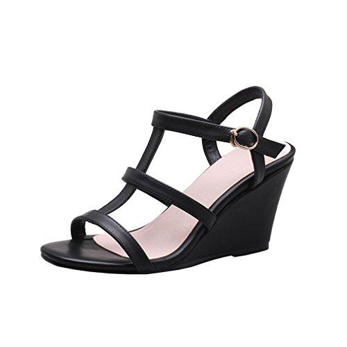 Cuir Sandals Femme Y2y Studio Noir 4YxBBA